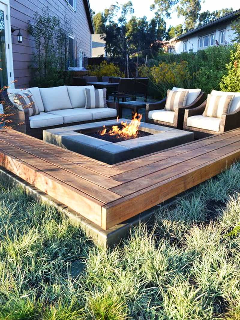 Best Outdoor Fire Pit Ideas to Have the Ultimate Backyard ... on Square Patio Designs  id=42957
