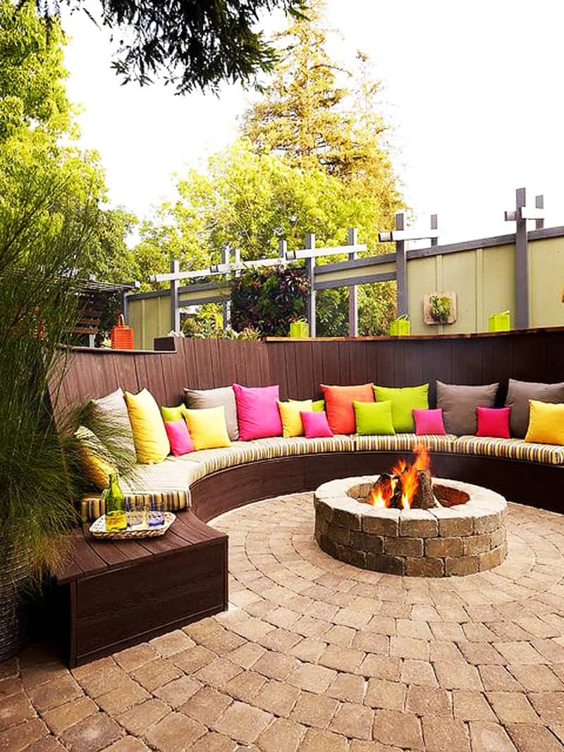 Best Outdoor Fire Pit Ideas to Have the Ultimate Backyard ... on Backyard Patio Designs With Fire Pit  id=31531