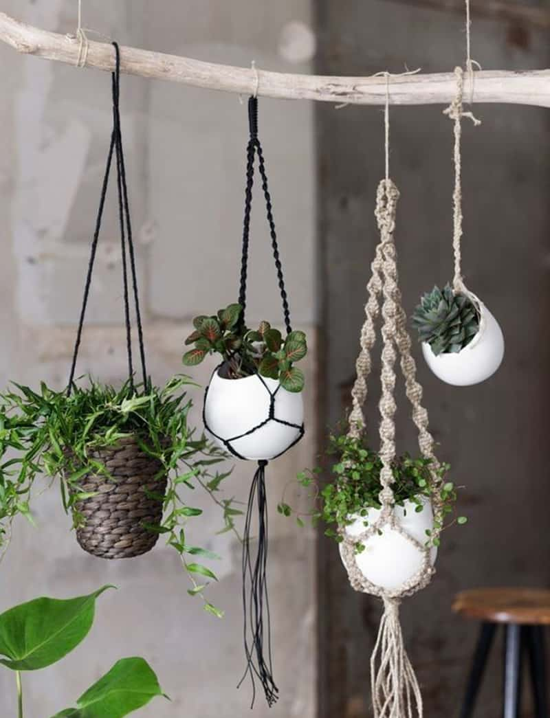 Indoor Rope Basket Hanging