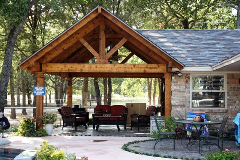 25 Warm and Cozy Rustic Outdoor Ideas To Decorate Your ... on Backyard Patio Cover Ideas  id=75000