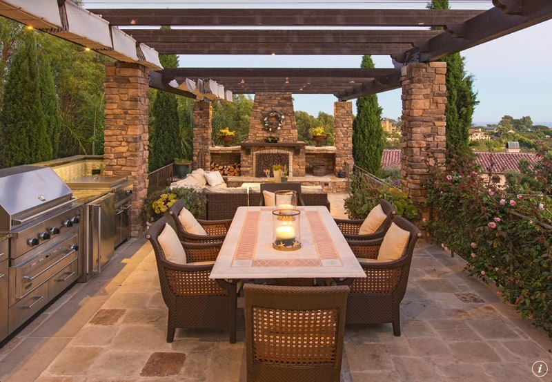 Let's Eat Out! 45 Outdoor Kitchen and Patio Design Ideas on Outdoor Kitchen Patio  id=77822