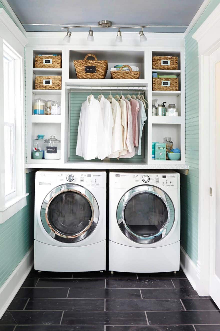 Clever Laundry Room Ideas to Inspire You on Small Laundry Room Organization Ideas  id=19125