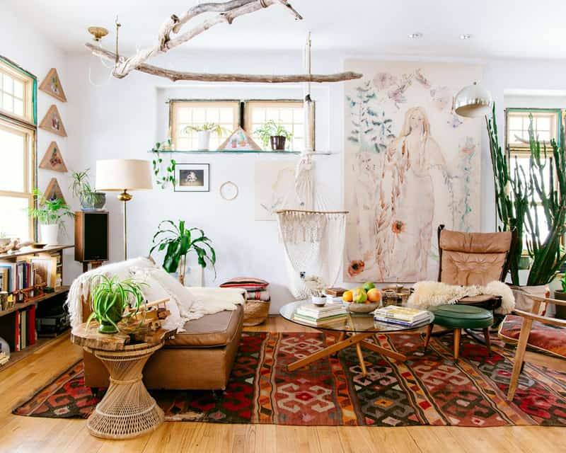 15 Crazy Ideas that Will Instantly Embellish Your Bohemian ... on Bohemian Living Room Decor Ideas  id=43148