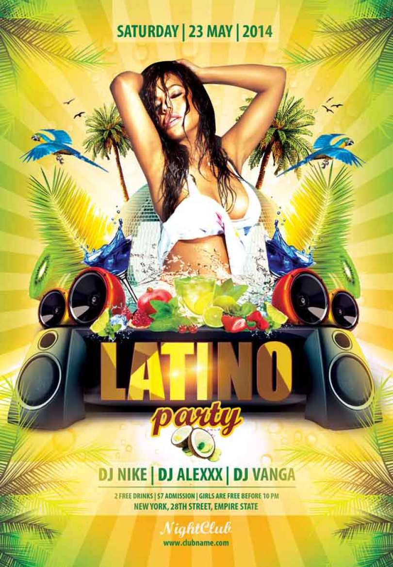 Latino-party-Flyer-PSD-free