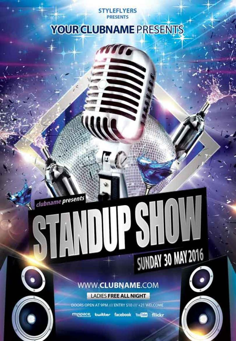 Stand-up-show-PSD-Flyer