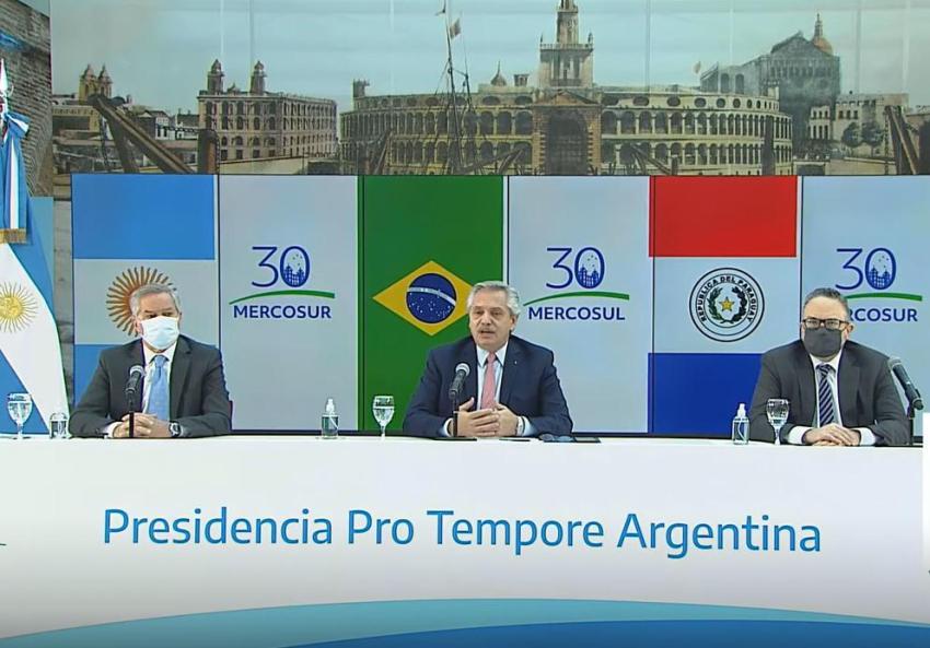 Alberto Fernández encabeza cumbre del Mercosur en medio de tensiones tras anuncio de Uruguay de abandonar el bloque