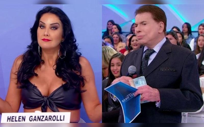 Silvio Santos questionou sexualidade de Helen Ganzarolli, de 39 anos.