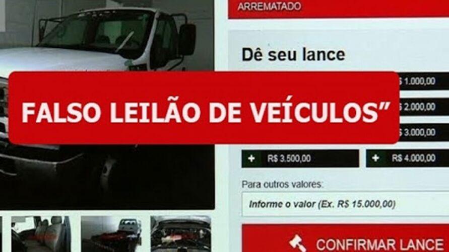 Mais de 52 mil brasileiros já caíram em golpe de falso leilão de veículos.
