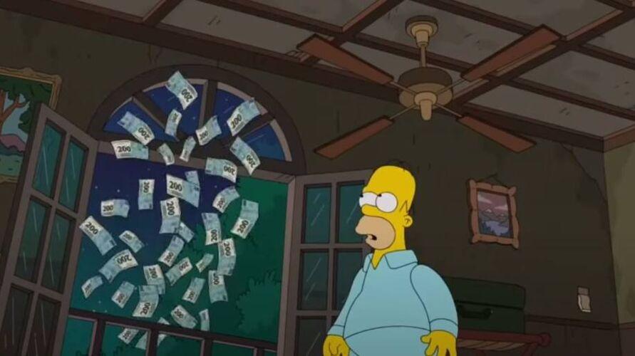 A cédula de R$ 200 reais aparece em um episódio da série no Brasil.