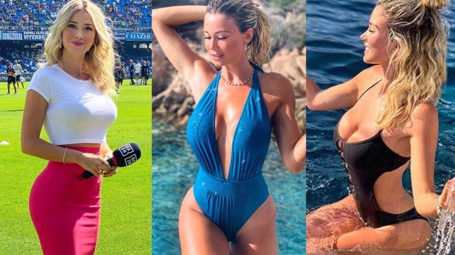 Apresentadora esportiva Diletta Leotta teve fotos íntimas vazadas pela segunda vez.