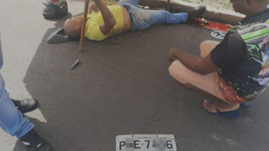 Motorista da caminhonete fugiu sem prestar socorro