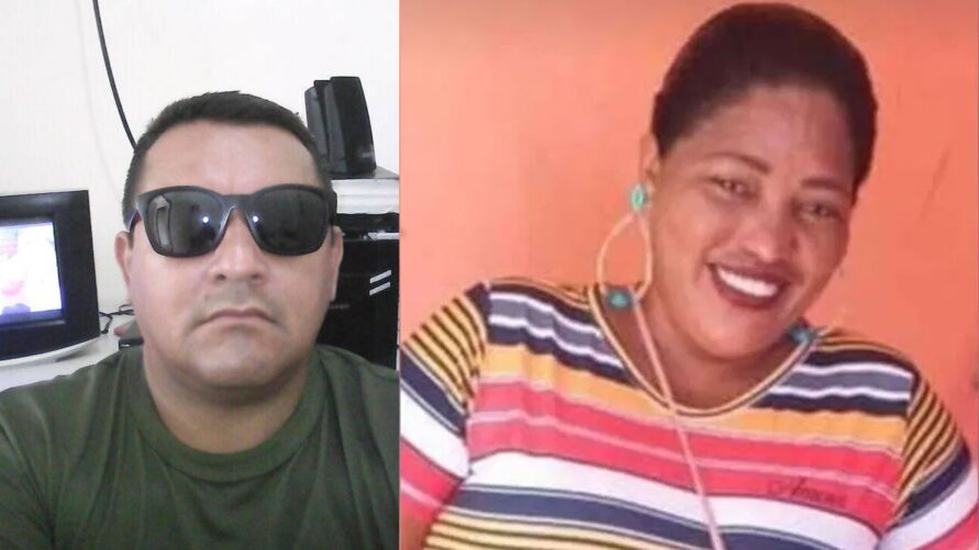 Sargento da PM (à esquerda) foi preso acusado de tentar matar a ex-esposa (à direita)