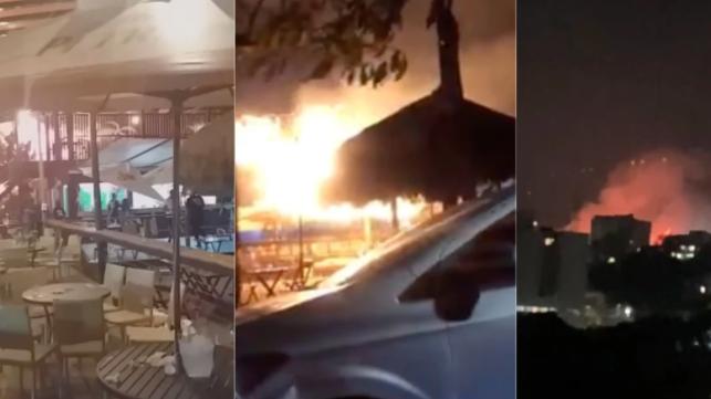 Fogo invade imediatamente bar de praia em Belo Horizonte em menos de 1 ano.