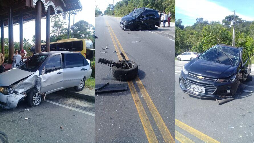 Um dos condutores teve um corte profundo na cabeça e o outro sofreu ferimentos leves