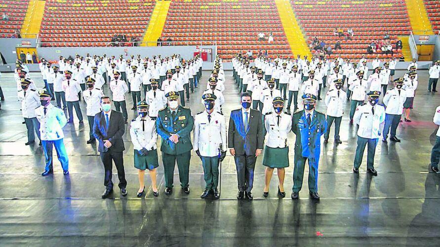 A turma é a maior já formada pela Academia da PM e a primeira com exigência de curso superior