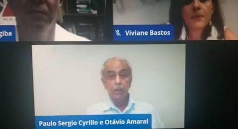 Paulo Sergio Cyrillo durante live antes de falecer
