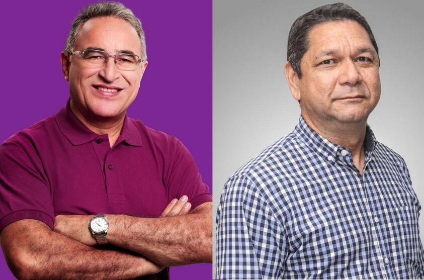 Edmilson Rodigues (PSOL) e Delegado Eguchi (Patriota).
