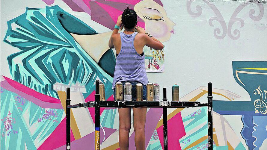Primeiro mural será pintado por Drika Chagas, idealizadora do projeto Telavista.