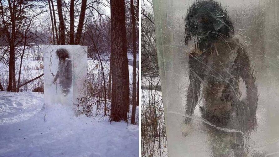Imagem ilustrativa da notícia 'Homem das cavernas' é encontrado preso em bloco de gelo, veja!