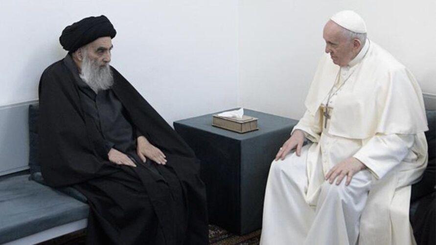 Imagem ilustrativa da notícia Papa Francisco tem encontro histórico com principal líder xiita no Iraque