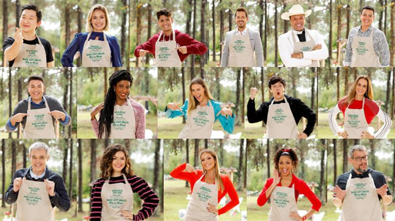 """Imagem ilustrativa da notícia Celebridades enfrentam segundo dia de desafios no """"Bake Off"""" neste sábado (27)"""