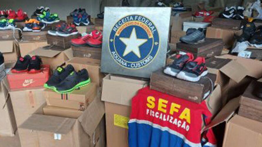 Imagem ilustrativa da notícia: Operação apreende quase 16 mil calçados falsificados no Pará
