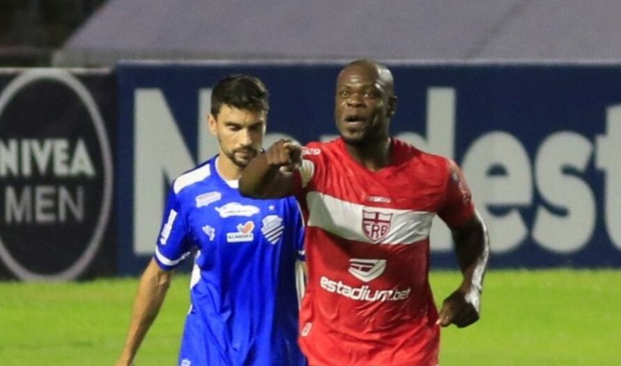 Lembra dele? Ex-Papão, Diego Ivo entrou e marcou para o CRB.