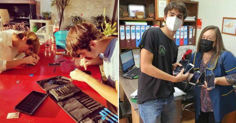 O jovem conta com um grupo de oito pessoas, entre amigos e desconhecidos que se ofereceram para ajudar a consertar os aparelhos