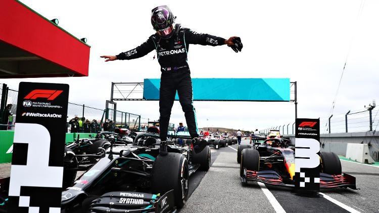 Lewis Hamilton durante o GP de Portugal no ano passado