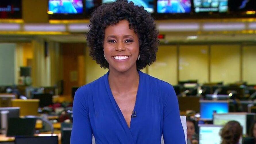 Maju Coutinho, 42 anos, é apresentadora do Jornal Hoje.