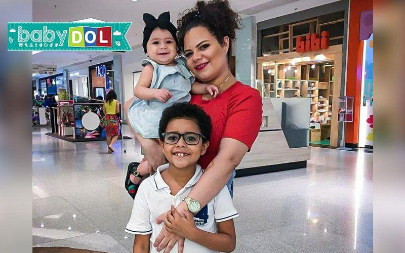 Jéssica Marinho é mãe mãe do Pedro e da Isís.
