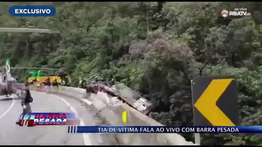 Imagem ilustrativa da notícia: Tia de vítima fala com exclusividade sobre o trágico acidente no Paraná; veja o vídeo