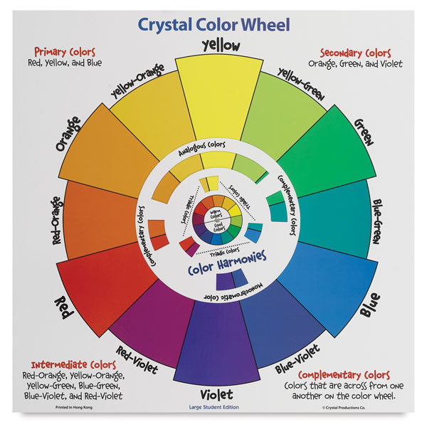 Crystal Productions Student Color Wheel Poster BLICK Art