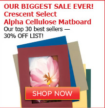 Crescent Select Alpha Cellulose Matboard
