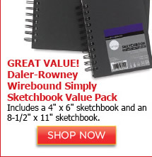 Daler-Rowney Wirebound Simply Sketchbook Value Pack