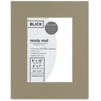 Blick Ready Mat Singles, Manor White, 8&quot x 10&quot (4-1/2&quot x 6-1/2&quot opening)