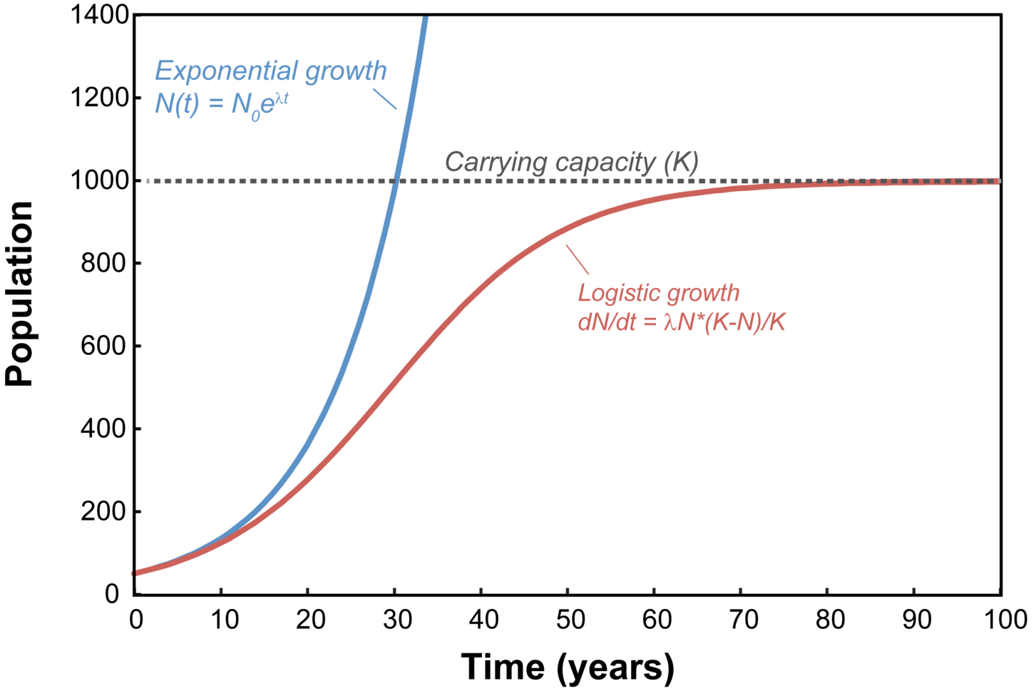 Difference Between Exponential Growth And Exponential