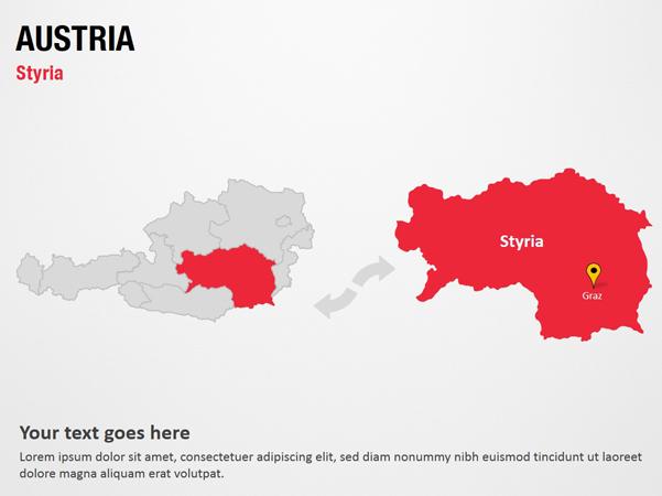 Styria Austria Powerpoint Map Slides Styria Austria