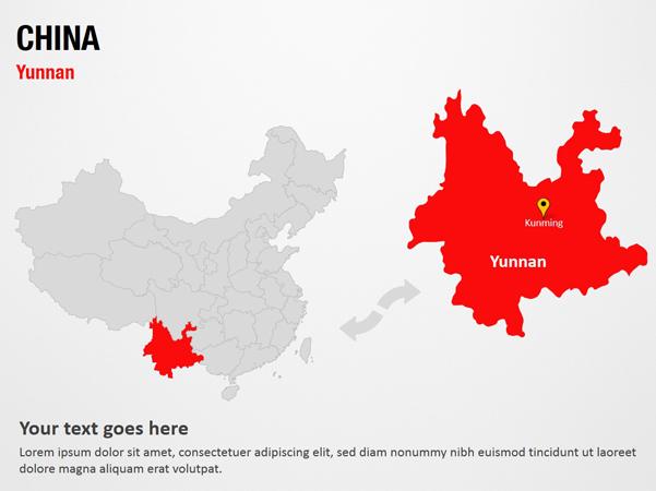 Yunnan China Powerpoint Map Slides Yunnan China Map