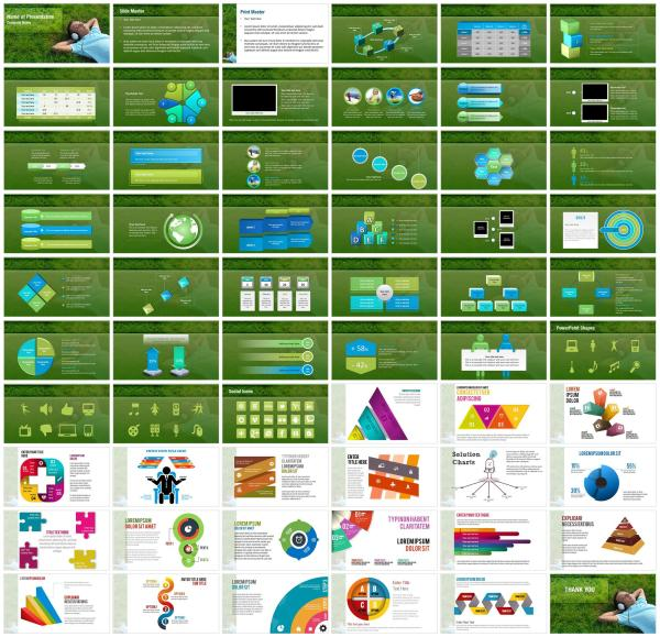 Listening Music PowerPoint Templates - Listening Music ...