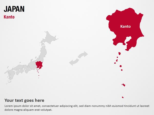 Kanto Japan Powerpoint Map Slides Kanto Japan Map