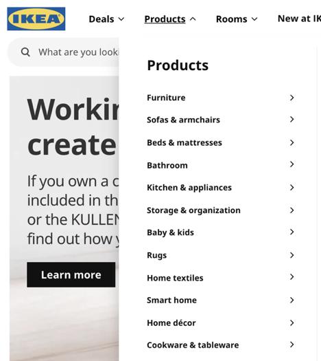 Site Web Ikea
