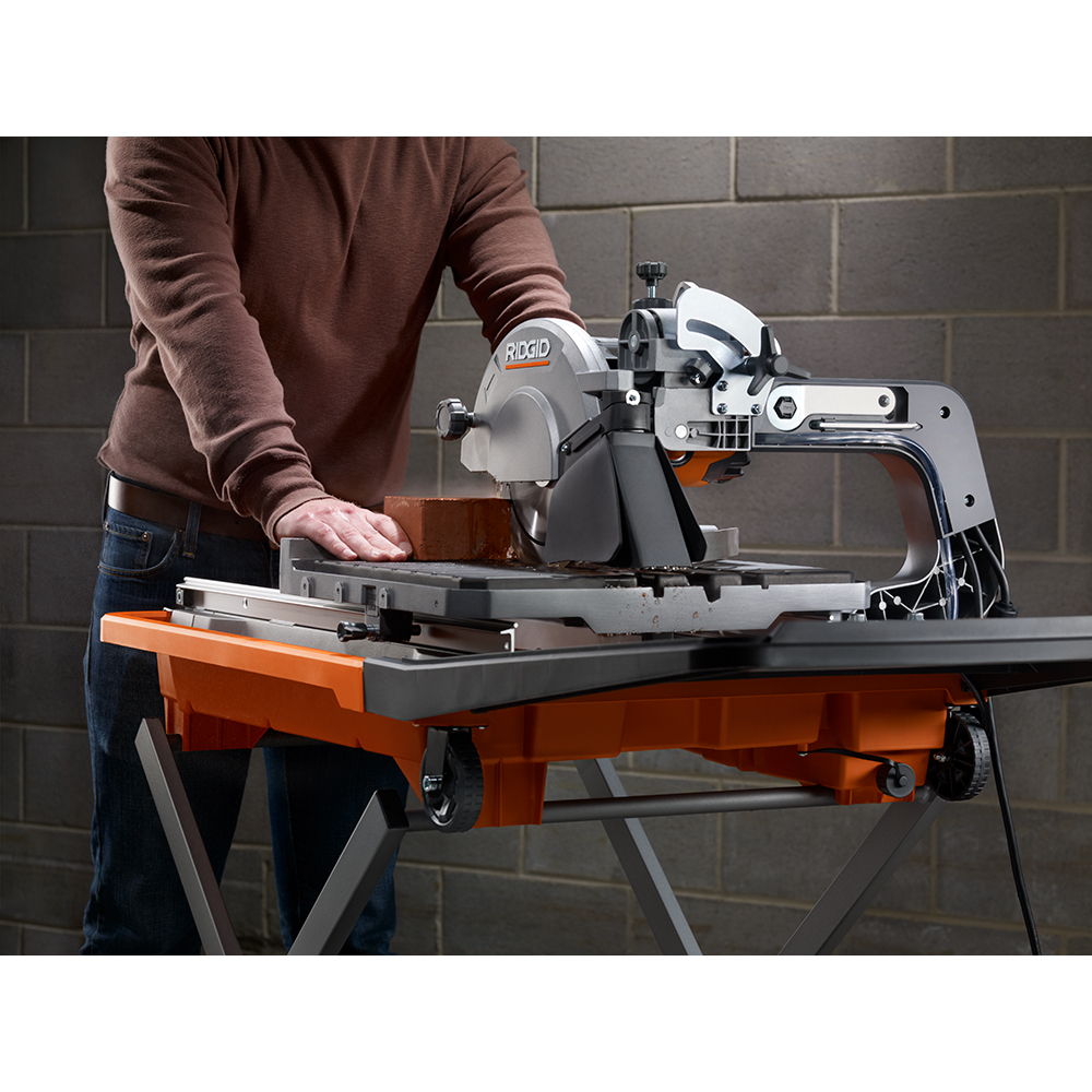 ridgid 12 amp 8 in wet tile saw with stand