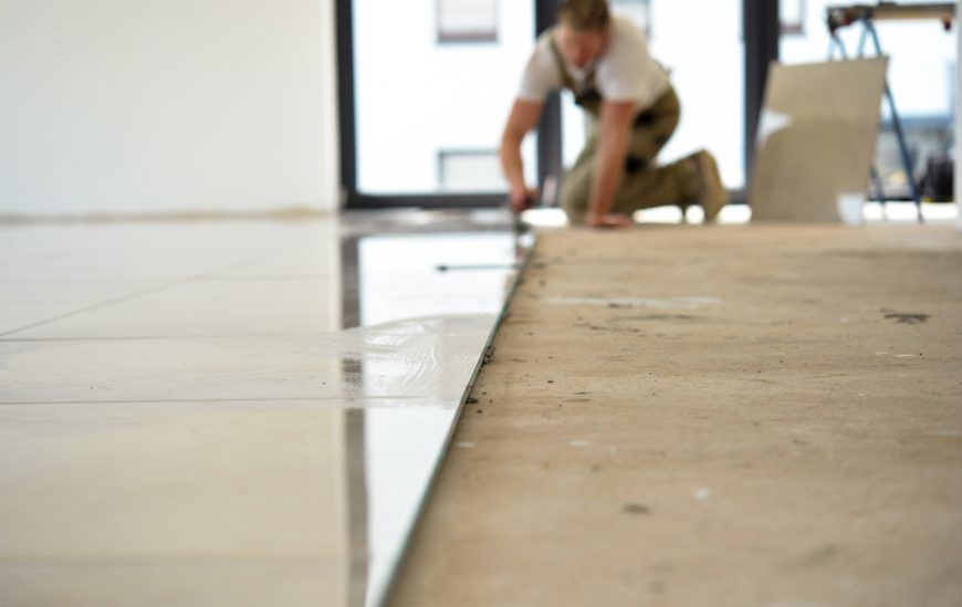 how to lay ceramic tiles on floorboards