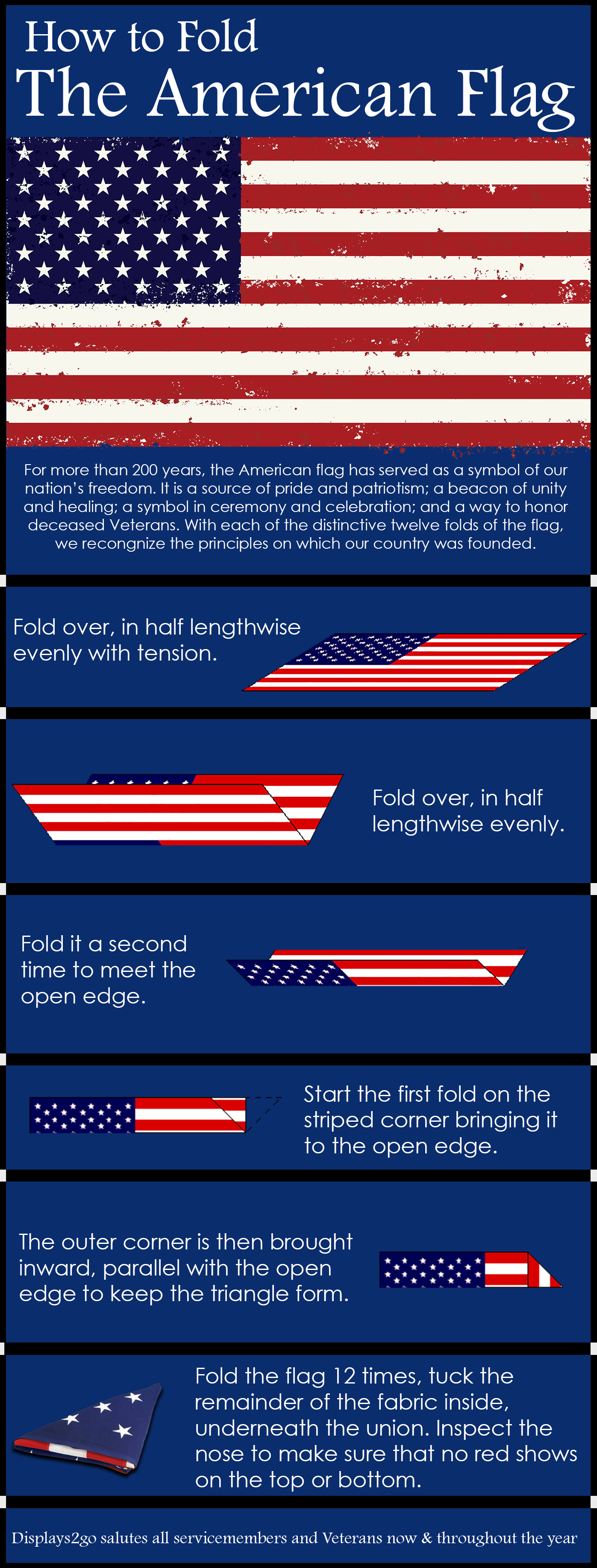 How To Properly Fold The American Flag
