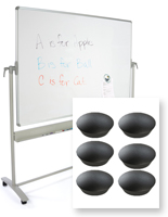 Magnetic White Boards - Floor Standing & Wall Mount