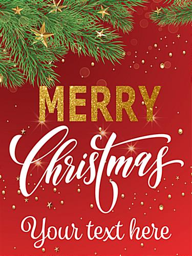 18 X 24 Merry Christmas Retail Poster Seasonal Banner
