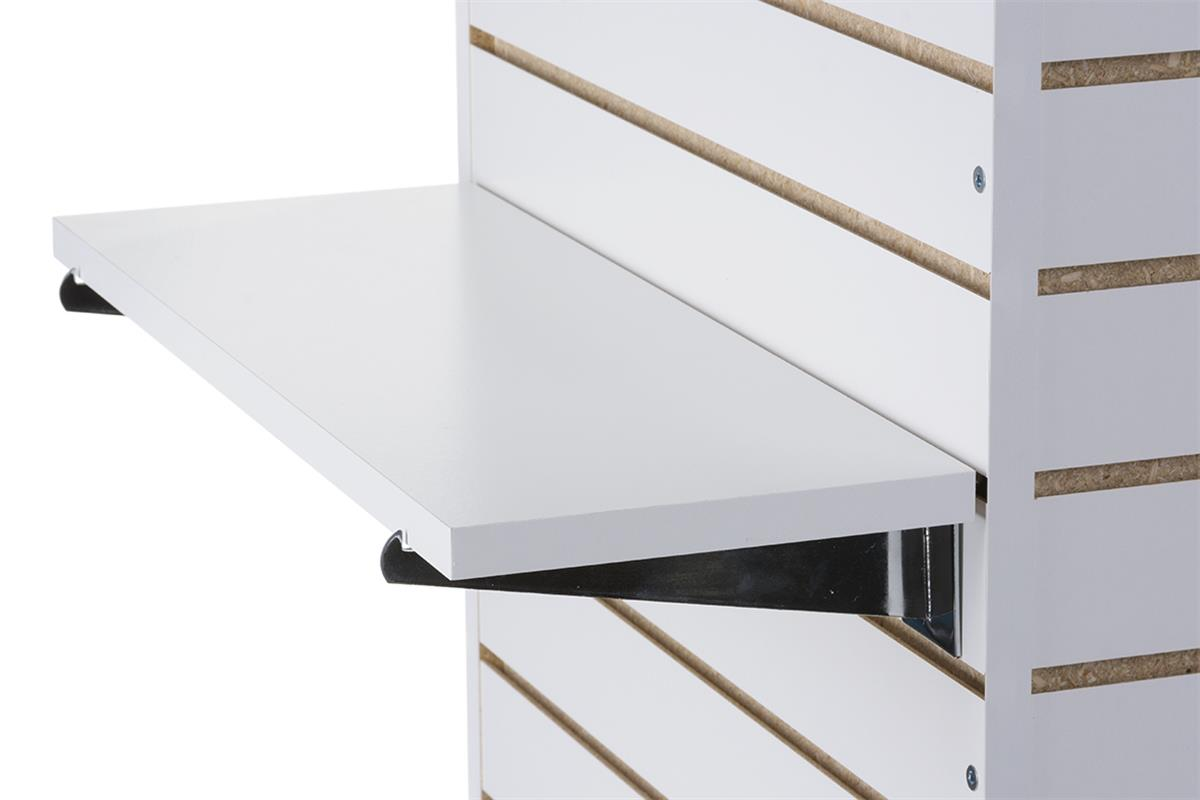 8 X 22 25 Slatwall Shelves With Brackets Set Of 4 White