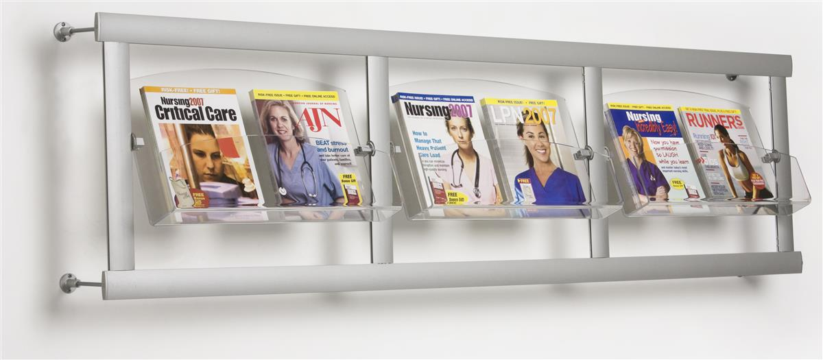 The Magazine Rack Has 3 Acrylic Pockets To Fit Many Publications