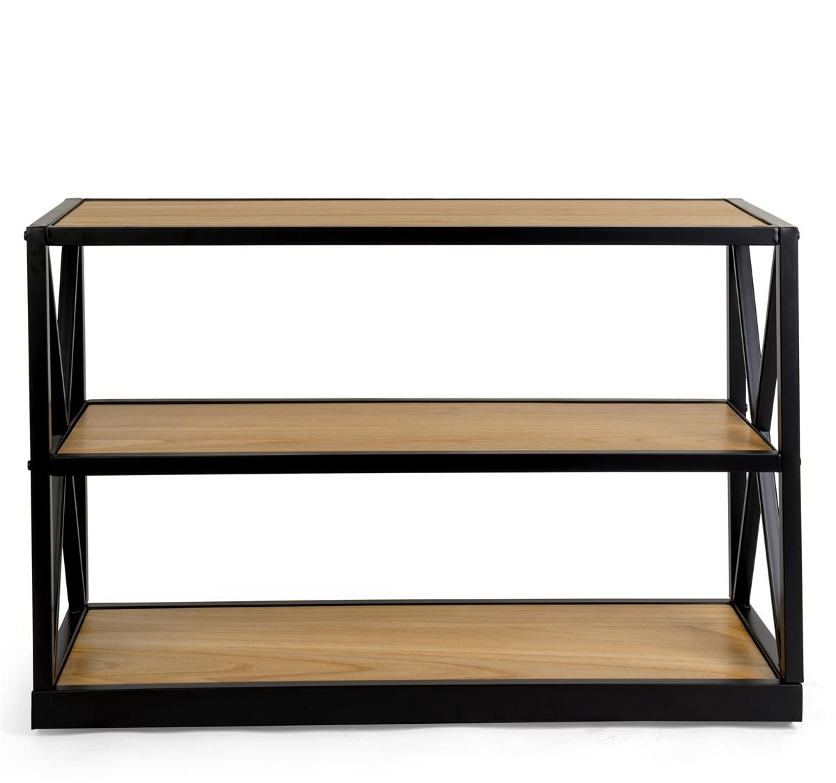 French Industrial Console Shelf 3 Tier Design